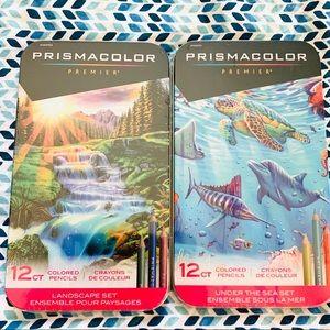 NEW Prismacolor Pencil Lot, Sharpener & Pictures